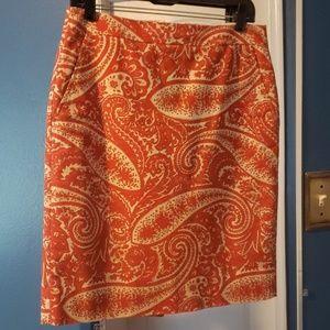 J.Crew Paisley Pencil Skirt